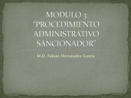 """MODULO 3 """"PROCEDIMIENTO ADMINISTRATIVO …"""