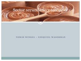 Sector secundario y terciario