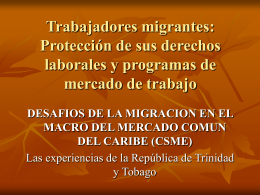 Migrant Workers: Protection of Labour Rights and Labour