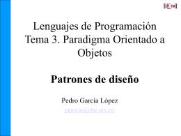 Tema 3. Paradigma Orientado a Objetos