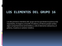 LOS ELEMENTOS DEL GRUPO 16