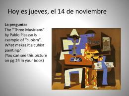 Hoy es martes. La fecha es el 11 de noviembre