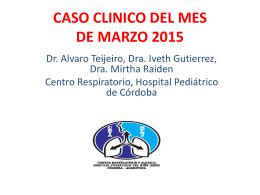 CASO CLINICO DEL MES DE NOVIEMBRE 2014