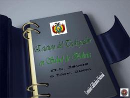 ESTATUTO DEL TRABAJADOR EN SALUD D.S.28909 del 06 …
