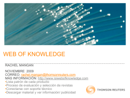 ISI Web of Knowledge Update
