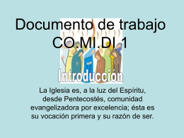 Documento de trabajo CO.MI.DI 1