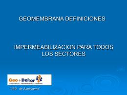 GEOMEMBRANAS ISSEMYM - Perfil Inmobiliario | Inicio