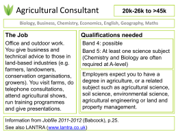 Job title - Science and Plants for Schools