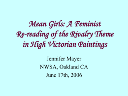 Mean Girls: A Feminist Re-reading of the Rivalry Theme in