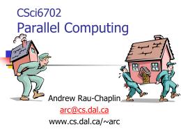 CSci6702 Parallel Computing