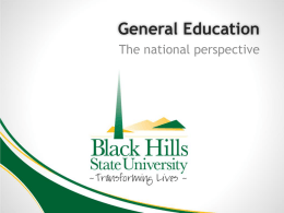 General Education - Black Hills State University