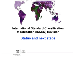 International Standard Classification of Education (ISCED