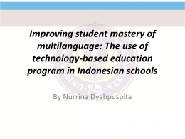Improving student mastery of multilanguage: The use of