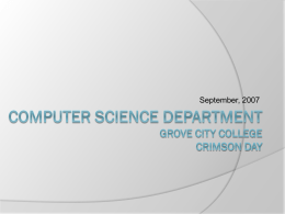 Mathematics and Computer Science Open House