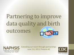 Partnering for improved data quality