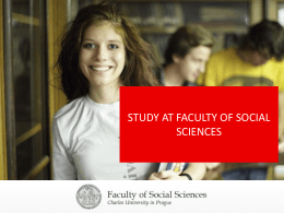 STUDY AT FACULTY OF SOCIAL SCIENCES