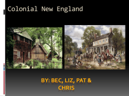 Similarities between modern and Colonial New England