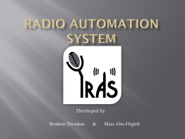 Radio Automation System - An
