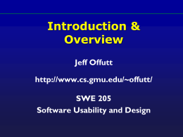 632: Introduction & Overview