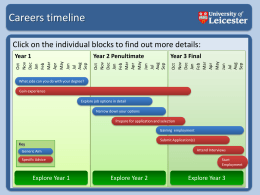 Careers timeline - University of Leicester