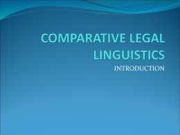 ENGLISH FOR LAWYERS III