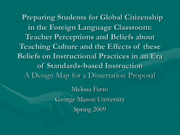 Preparing Foreign/World Language Teachers to Educate …