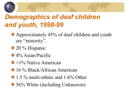 Deaf Children and Youth from language minority families