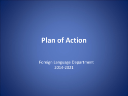Plan of Action - Belmont Public Schools