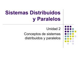 Sistemas Distribuidos y Paralelos