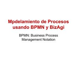 Mpdelamiento de Procesos usando BPMN y BizAgi