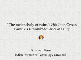 "The melancholy of ruins"": Orhan Pamuk's …"