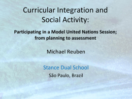 Curricular Integration and Social Activity: Participating