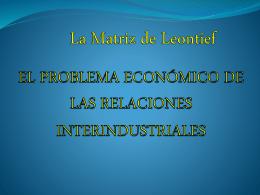 La Matriz de Leontief - wikimatematicasalarcos