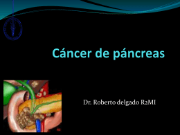 Cancer de pancreas Generalidades