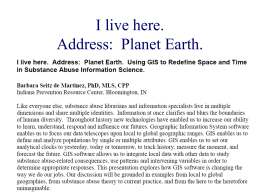 "Planet Earth"" - Indiana Prevention Resource Center"