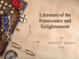 Literature of the Renaissance and Enlightenment