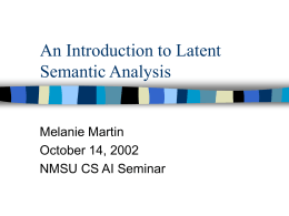 An Introduction to Latent Semantic Analysis