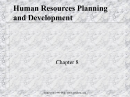 Human Resources Planning and Development