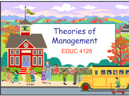 Theories of Management - Home | Nipissing University