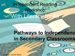 Independent Reading Workshop