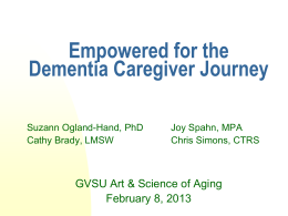 Dementia Detailing - Grand Valley State University