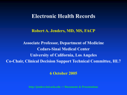 Electronic Medical Records - Home Page of Robert A