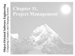 Lecture for Chapter 11, Project Management