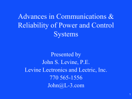 Changes in Power System Communications
