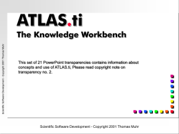 ATLAS.ti Teachware