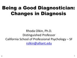 Diagnosing Using DSM 5