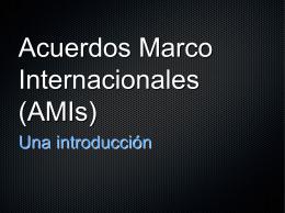 Acuerdos Marco Internacionales (AMIs)