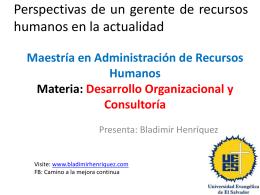 Perspectivas de un gerente de recursos humanos en la