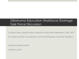 Education Workforce Shortage Task Force Discussion