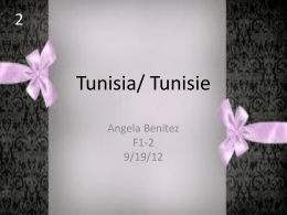 Tunisia/ Tunisie - Klein Independent School District